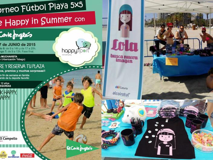 Torneo Fútbol Playa Be Happy in summer